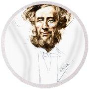 John Tyndall, Irish Physicist Round Beach Towel