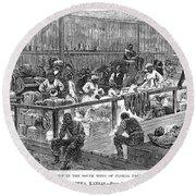 Kansas: Black Exodus, 1879 Round Beach Towel