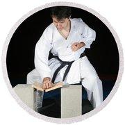 Karate Round Beach Towel