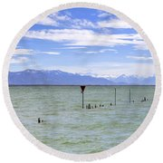Lake Constance Round Beach Towel by Joana Kruse