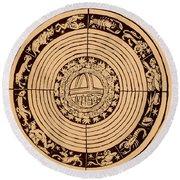 Medieval Zodiac Round Beach Towel