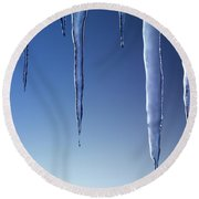 Melting Icicles Round Beach Towel