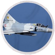 Mirage 2000c Of The French Air Force Round Beach Towel