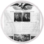 Presidential Campaign 1840 Round Beach Towel