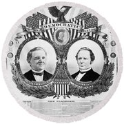 Presidential Campaign, 1876 Round Beach Towel
