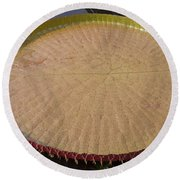 Queen Victoria Lily Round Beach Towel