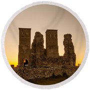 Reculver Towers Round Beach Towel