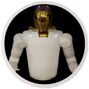 Robonaut 2, A Dexterous, Humanoid Round Beach Towel by Stocktrek Images