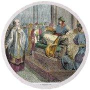 Saladin (1138-1193) Round Beach Towel