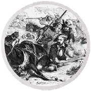 Sam Houston (1793-1863) Round Beach Towel