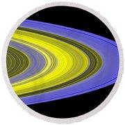 Saturns Rings Round Beach Towel