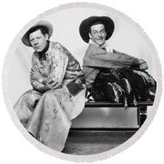 Silent Film Still: Cowboys Round Beach Towel