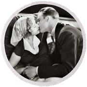 Silent Film Still: Kissing Round Beach Towel