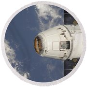 The Spacex Dragon Commercial Cargo Round Beach Towel