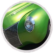 40 Ford - Front Driver Angle-8665 Round Beach Towel