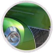 40 Ford - Front Pass Angle-8651 Round Beach Towel