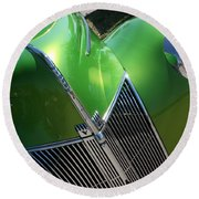 40 Ford - Grill Angle-8659 Round Beach Towel