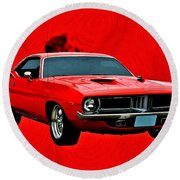 440 Charger Round Beach Towel