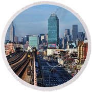 46th And Bliss Round Beach Towel