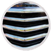 48 Chevy Convertible Grill Round Beach Towel