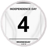 4th July Round Beach Towel