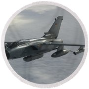 A Luftwaffe Tornado Ids Over Northern Round Beach Towel