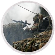 A Recce Or Scout Team Of The Belgian Round Beach Towel