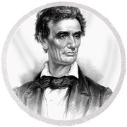 Abraham Lincoln, 16th American President Round Beach Towel by Photo Researchers