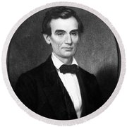 Abraham Lincoln (1809-1865) Round Beach Towel