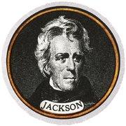 Andrew Jackson, 7th American President Round Beach Towel
