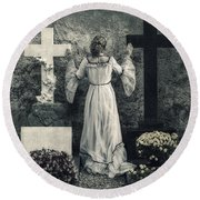 Angel Round Beach Towel by Joana Kruse