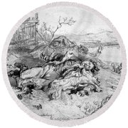 Battle Of Fredericksburg Round Beach Towel