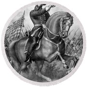 Benjamin Harrison Round Beach Towel