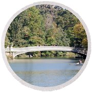 Bow Bridge Round Beach Towel