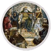 Charlemagne (742-814) Round Beach Towel