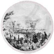 Civil War: Gettysburg Round Beach Towel