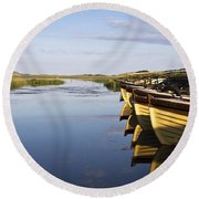 Dunfanaghy, County Donegal, Ireland Round Beach Towel