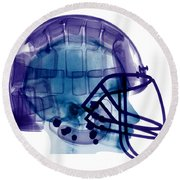 Football Helmet, X-ray Round Beach Towel