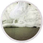 Girl At The Sea Round Beach Towel by Joana Kruse