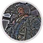 Hdr Image Of A Pilot Sitting Round Beach Towel