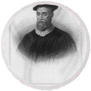 John Knox (1513-1572) Round Beach Towel