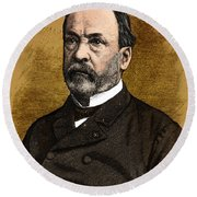 Louis Pasteur, French Chemist Round Beach Towel by Science Source