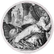 Louis Xv (1710-1774) Round Beach Towel