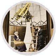 Maria Mitchell American Astronomer Round Beach Towel