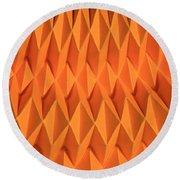 Mathematical Origami Round Beach Towel