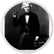Michael Faraday, English Physicist Round Beach Towel