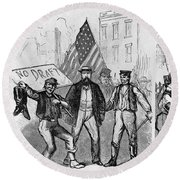 New York: Draft Riots, 1863 Round Beach Towel