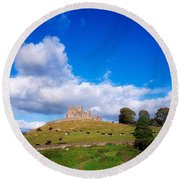 Rock Of Cashel, Co Tipperary, Ireland Round Beach Towel