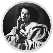 Sarah Bernhardt Round Beach Towel