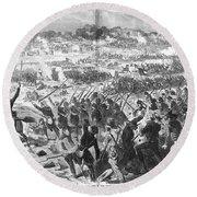 Seven Days Battles, 1862 Round Beach Towel